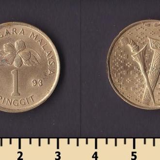 Малайзия 1 ринггит 1993