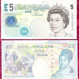 Боны Европа Англия Великобритания 5 фунтов 2002 г.