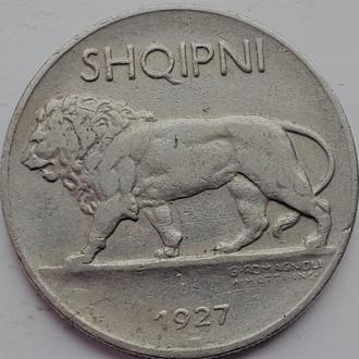 Албания 1/4 лек 1927 год РЕДКАЯ!!!!
