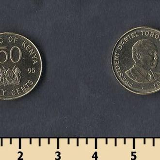 КЕНИЯ 50 ЦЕНТОВ 1995