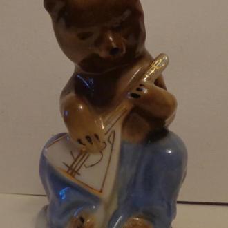Статуэтка медведь с балалайкой, Городница, СССР