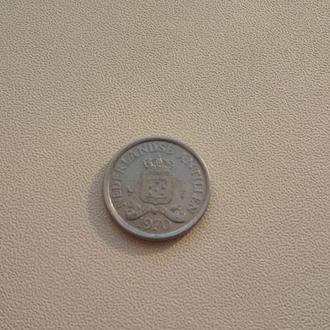 10 центов Нидерландские Антилы 1970 год.