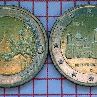 Германия 2 евро, 2014  Нижняя Саксония