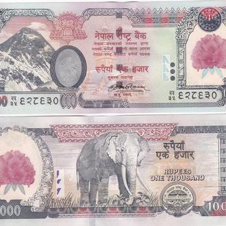 Nepal Непал  1000 Rupees Pick 67 (flower) UNC JavirNV