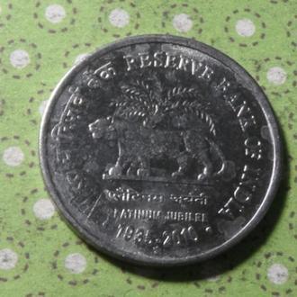 Индия 2010 год монета 1 рупия !