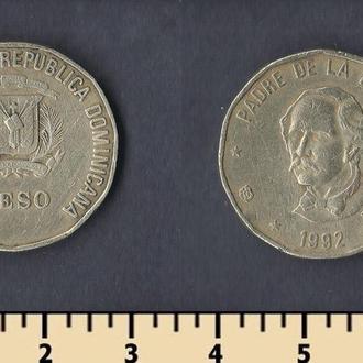 Доминиканская республика 1 песо 1992