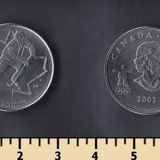 Канада 25 центов 2007