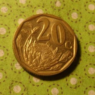 ЮАР 2004 год монета 20 центов Африка ПАР !