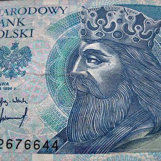 ПОЛЬША банкнота 50 польских злотых 1994 г.