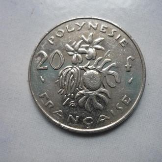 Французская Полинезия 20 франков 1991