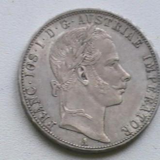 1 Флорін 1859 р А Срібло Австрія 1 Флорин 1859 г А Серебро Австрия 1 Гульден