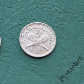 Новая Зеландия  3 пенса 1965
