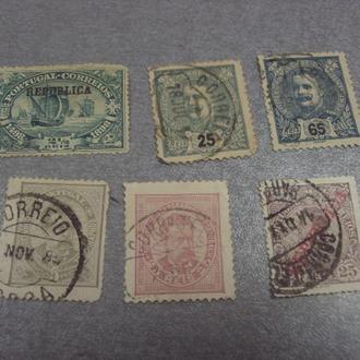марки португалия личности 1898 надпечатка в память васко да гама карлос король лот 6 шт №100