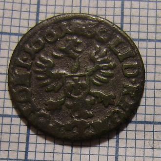 Шеляг, солид, боратинка 1661  Ян Казимир период (1648-1668)