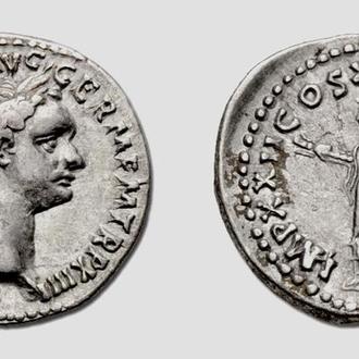 """(А)3452 - Домициан (81—96 г.) AR Денарий """"Минерва"""""""