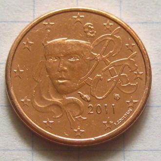 Франция_ 1 евро цент 2011 года  оригинал