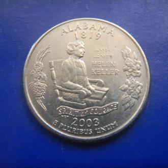 США 25 центов Алабама P 2003 (RL101)