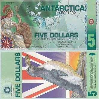 Antarctica Антарктика - 5 Dollars 2011 UNC JavirNV