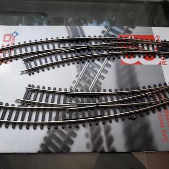 Стрелки радиусные левая+правая PIKO 55222-55223 A-Gleis/ Железная дорога H0(1:87