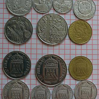 Сан-Марино, выпуск 1973 г, набор 7 монет, анц