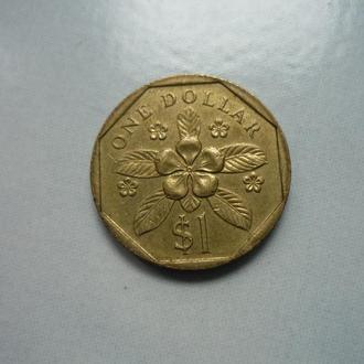 Сингапур 1 доллар 1988 фауна