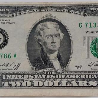 2 долара 1976рік