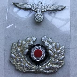 Комплект кокард на офицерскую фуражку. Вермахт (копия)
