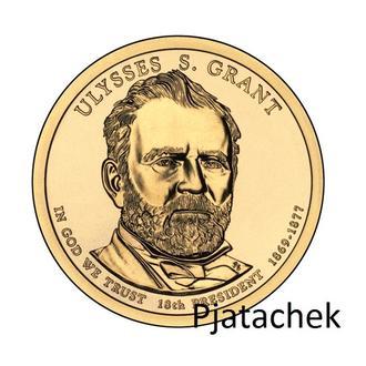 США  1 доллар 2011 г Улисс Грант 18-й президент