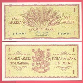 Боны Европа Финляндия 1 марка 1963 г.