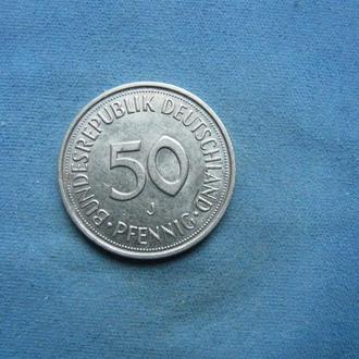 ФРГ 50 пфеннигов 1989 год J