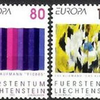 Лихтенштейн 1993 EUROPA CEPT Искусство