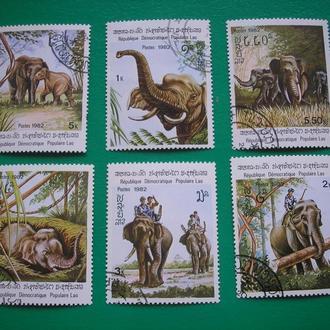 Лаос 1982 Слоны *  полн. сер.
