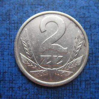 монета 2 злотых Польша 1986