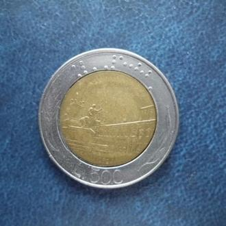 Италия 500 лир, 1992
