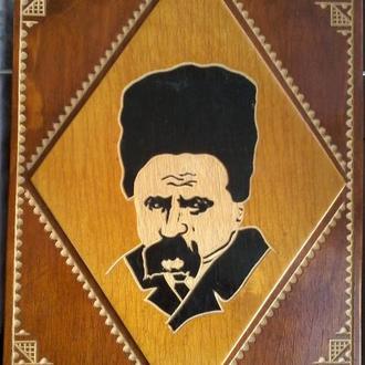 Портрет картина деревянная Тарас Шевченко 1990