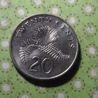 Сингапур 1997 год монета 20 центов !