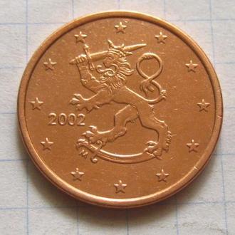 Финляндия_ 5 евро центов 2002  оригинал