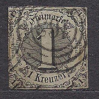 Немецкие земли, Thurn und Taxis, 1852-58 гг., первые марки, марка № 7 b