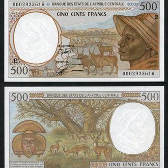Центральная Африка 500 франков 2000 буква F UNC