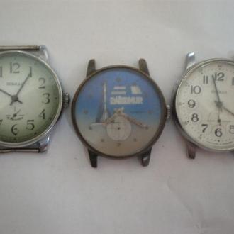 часы  Победа интересная модель 3 шт есть рабочие 2 шт 04043