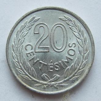 Уругвай 20 чентезимо 1965 (KM#44)