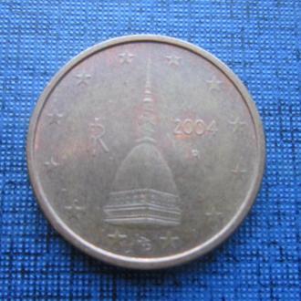 монета 2 евроцента Италия 2004