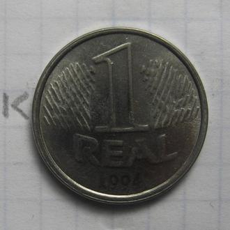 БРАЗИЛИЯ. 1 реал 1994 года.