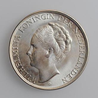 """Кюрасао 2,5 гульдена 1944, UNC, """"Королева Вильгельмина (1900 - 1948)"""""""
