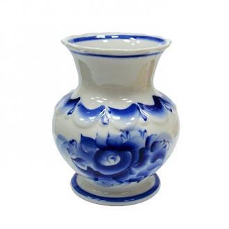 Керамическая вазочка роспись в стиле гжель 100ЭЗ