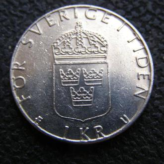 1 крона Швеция 1980 г