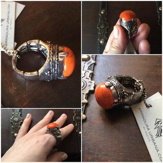 Кольцо под старинку покрытие серебро