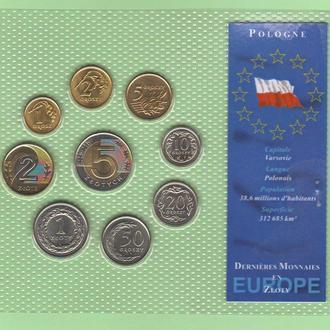 Набор монет ПОЛЬША блистер запайка ПОЛЬЩА пластик