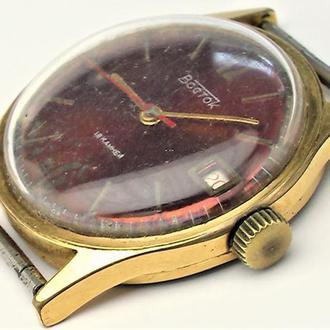 Часы Восток СССР Au 10 позолота от часовщика рабочие