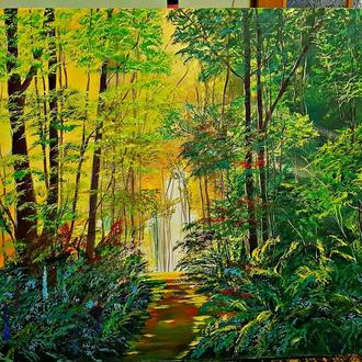 Картина маслом В дремучем лесу размер 80/60
